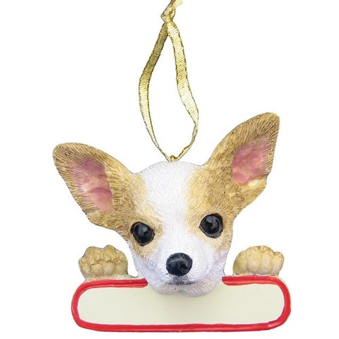 Chihuahua Tan Santa's Pal Christmas Ornament