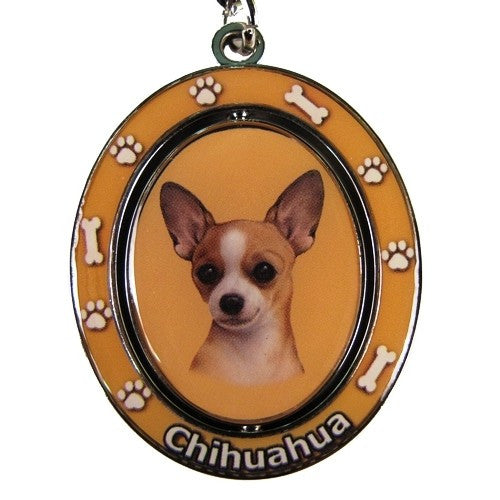 Chihuahua Tan Dog Spinning Keychain Doggy Style Gifts