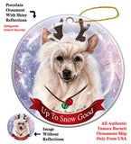 Chinese Crested Howliday Dog Christmas Ornament