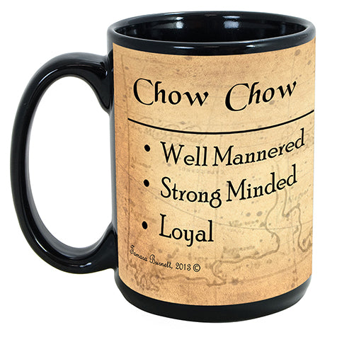 Faithful Friends Chow Chow Red Dog Breed Coffee Mug Doggy Style Gifts