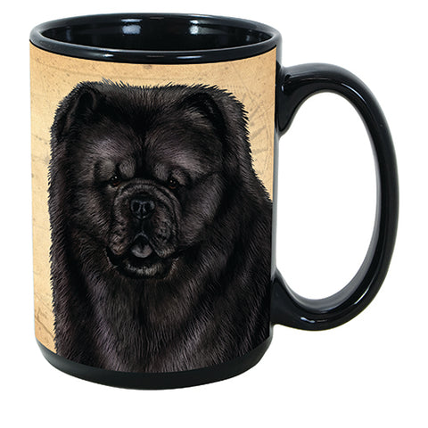 Faithful Friends Chow Chow Black Dog Breed Coffee Mug