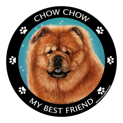 Chow Chow Red My Best Friend Dog Breed Magnet