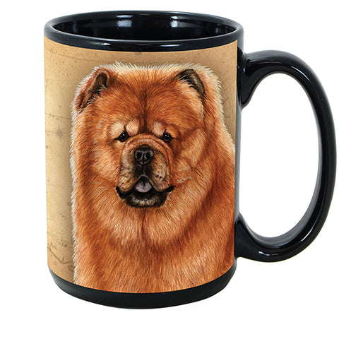 Faithful Friends Chow Chow Red Dog Breed Coffee Mug