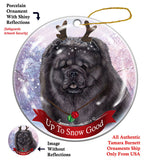 Chow Chow Black Howliday Dog Christmas Ornament