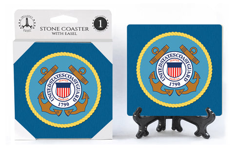 United States US Coast Guard Stone Drink Coaster
