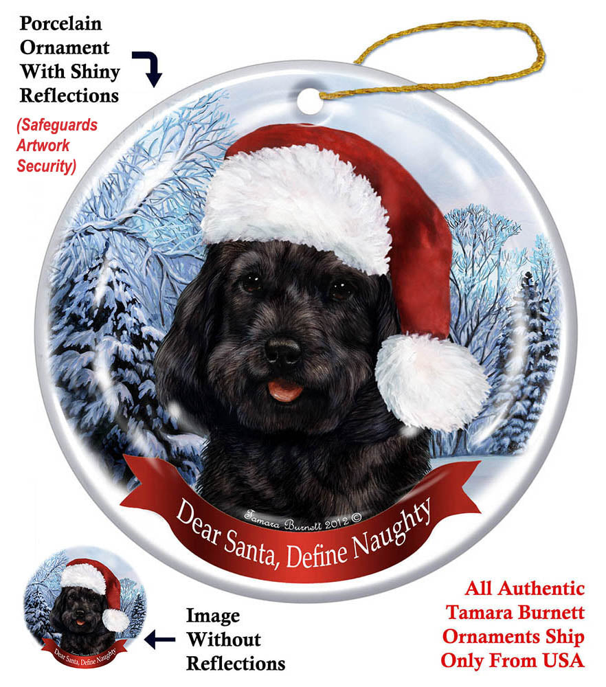 Cockapoo Black Howliday Dog Christmas Ornament
