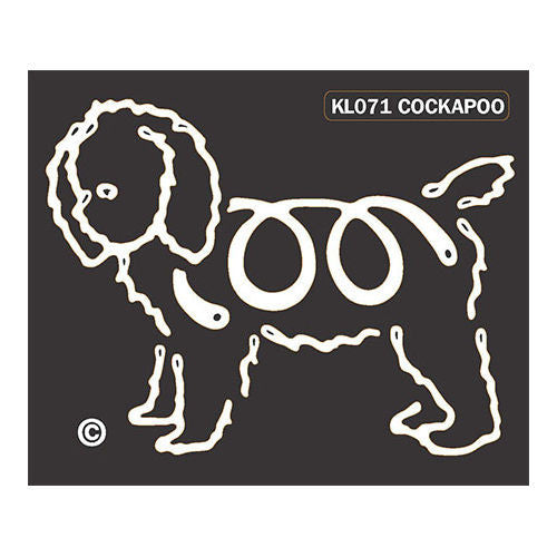 K Line Cockapoo Dog Window Decal Tattoo