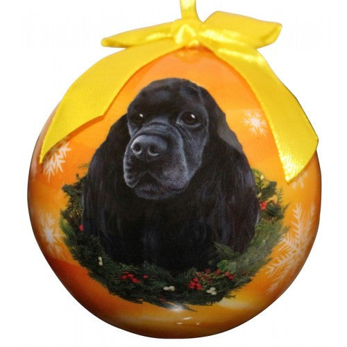 Cocker Spaniel Black Shatterproof Dog Breed Christmas Ornament