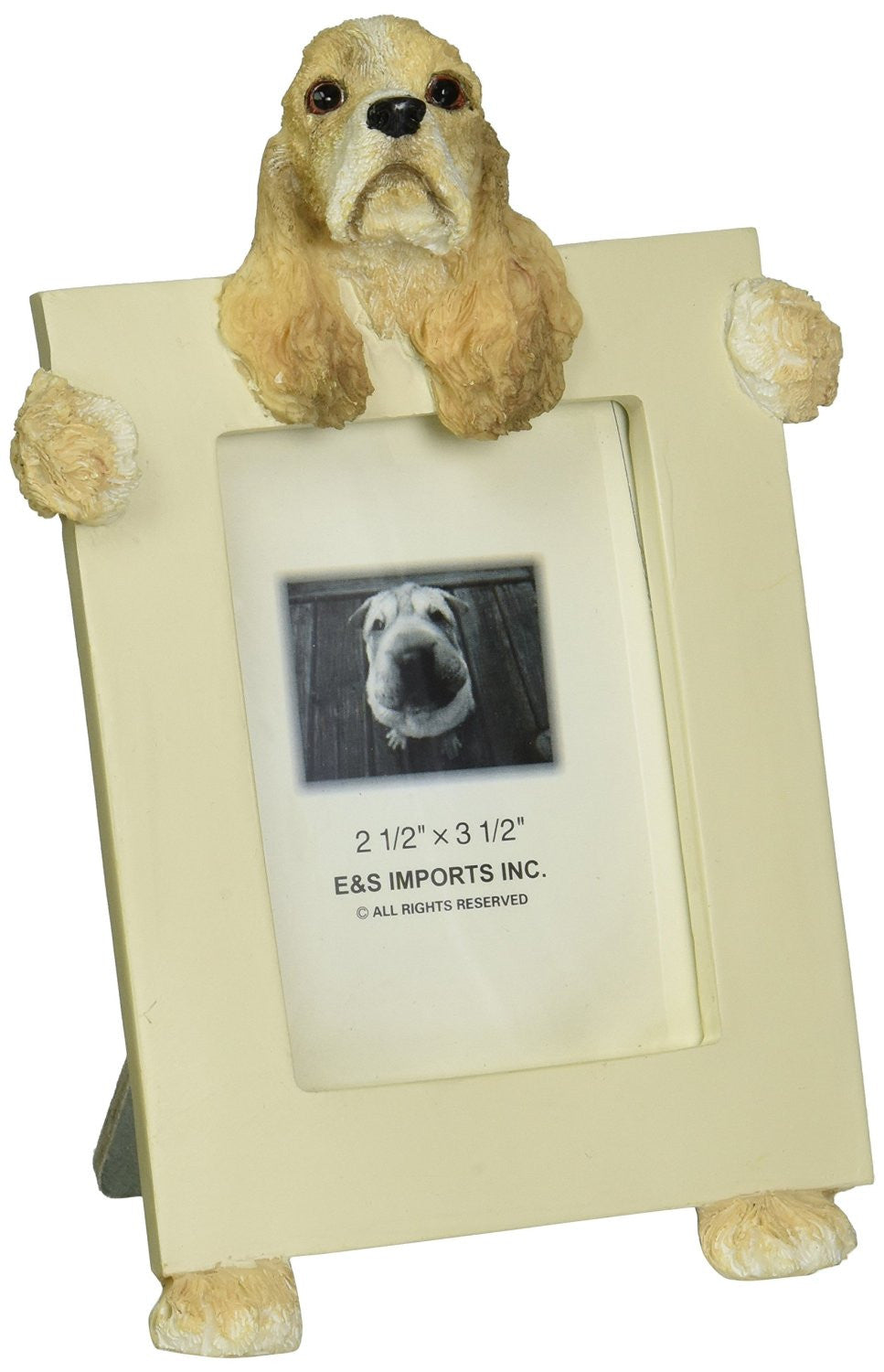 Cocker Spaniel Buff Dog Picture Frame Holder