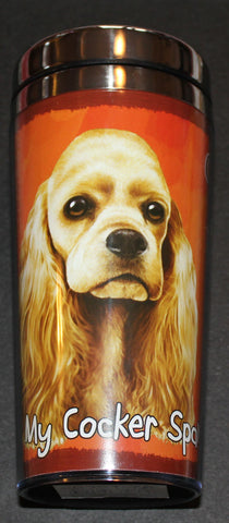 Cocker Spaniel Stainless Steel Travel Tumbler