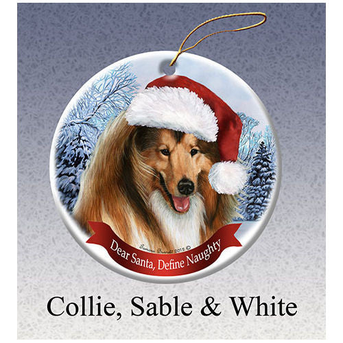 Collie Howliday Dog Christmas Ornament