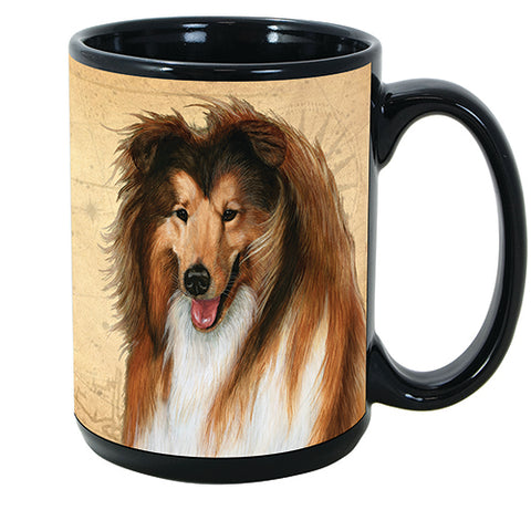 Faithful Friends Collie Dog Breed Coffee Mug