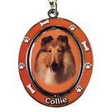 Collie Dog Spinning Keychain