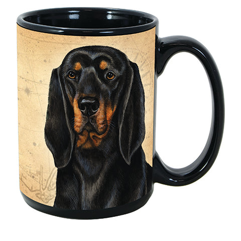 Faithful Friends Coonhound Black and Tan Dog Breed Coffee Mug
