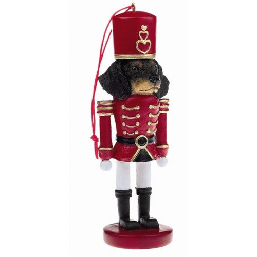 Dachshund Black Dog Toy Soldier Nut Cracker Christmas Ornament
