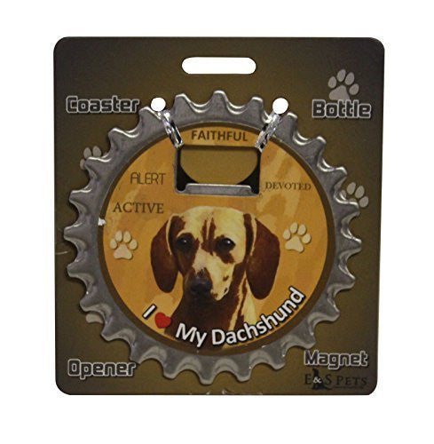 Dachshund Red Dog Bottle Ninja Stainless Steel Opener Magnet