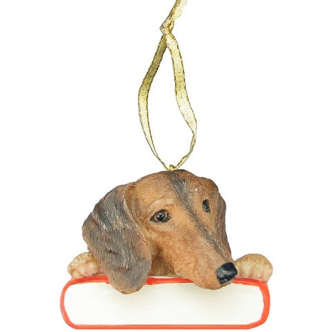 Dachshund Red Santa's Pal Christmas Ornament