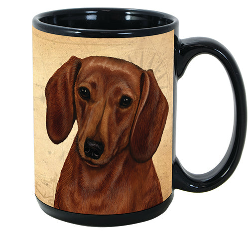 Faithful Friends Dachshund Red Dog Breed Coffee Mug