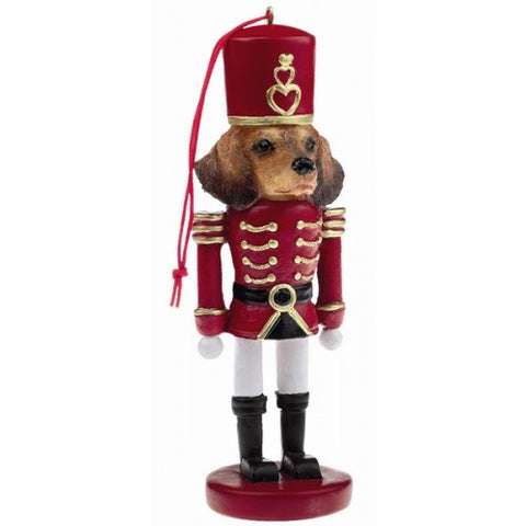 Dachshund Red Dog Toy Soldier Nutcracker Christmas Ornament