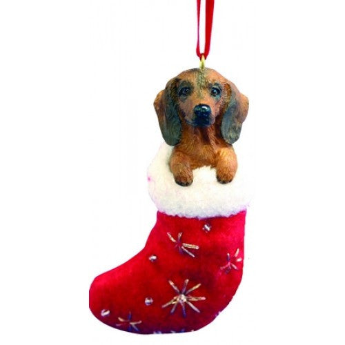 Santa's Little Pals Dachshund Red Christmas Ornament