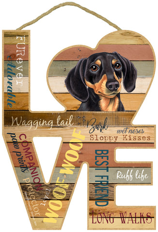 Dachshund Assorted Love Sign