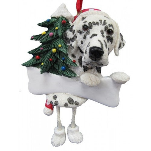 Dangling Leg Dalmatian Dog Christmas Ornament