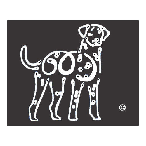 K Line Dalmatian Dog Car Window Decal Tattoo