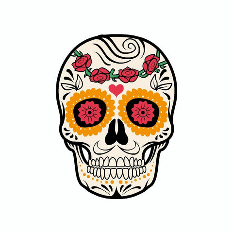 Day Of The Dead Skull Vinyl Car Decal