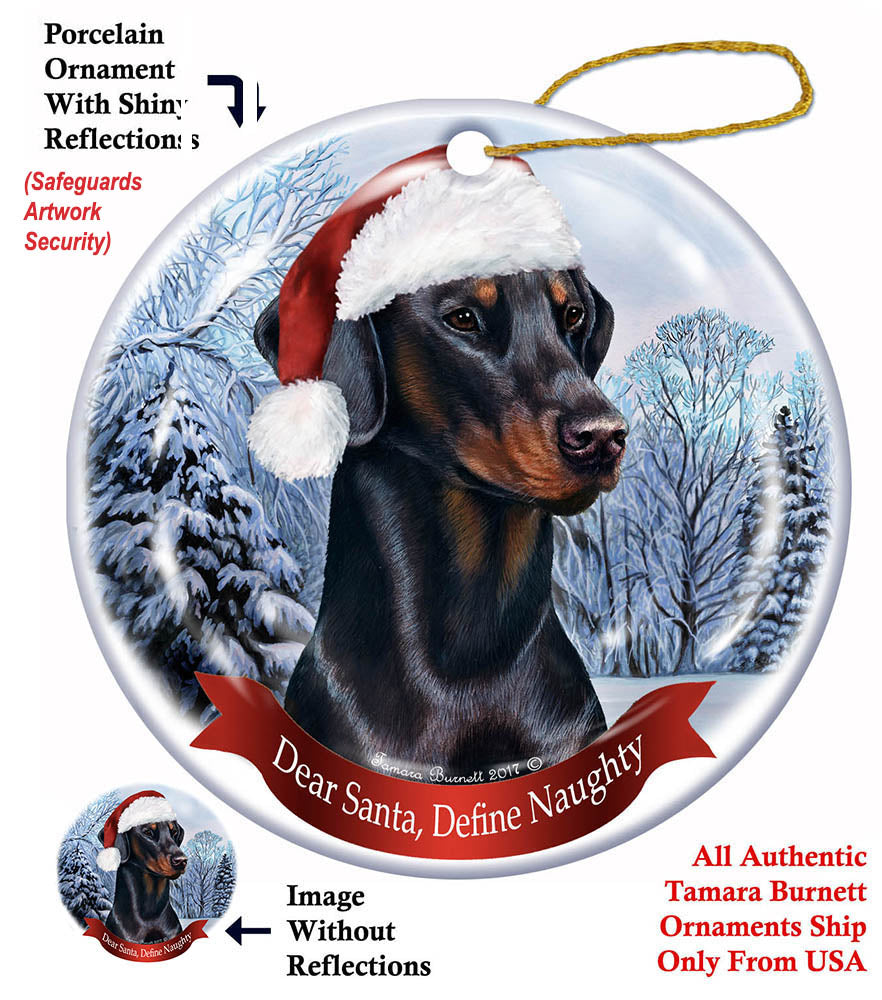 Doberman Pinscher Howliday Dog Christmas Ornament