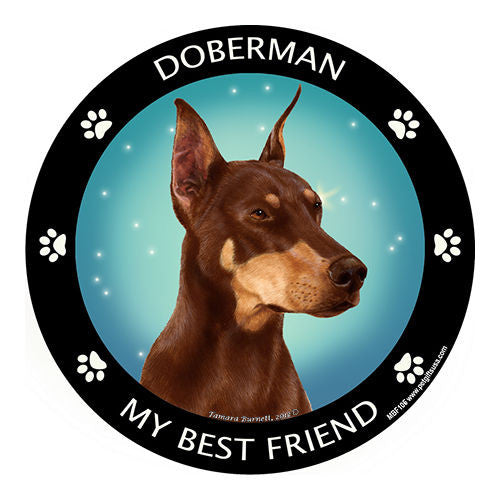 Doberman Pinscher Red My Best Friend Dog Breed Magnet