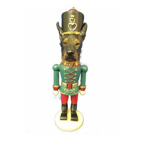 Doberman Pinscher Dog Toy Soldier Nutcracker Christmas Ornament