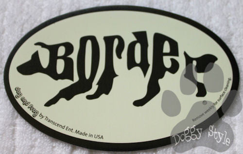 Euro Style Border Collie Dog Breed Magnet