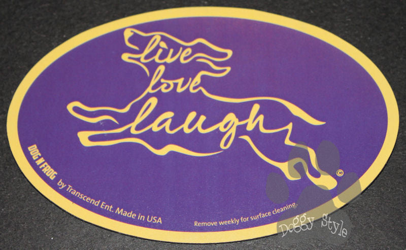 Euro Style Live Love Laugh Purple Dog Breed Magnet