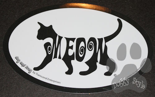 Euro Style Meow Dog Breed Magnet