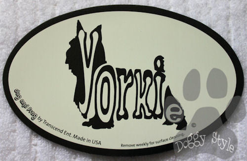 Euro Style Yorkshire Terrier Yorkie Dog Breed Magnet
