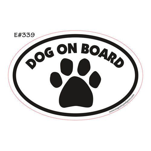 Dog On Board Euro Style Oval Dog Magnet