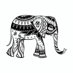 Elephant Mandala Art Tribal Vinyl Car Sticker