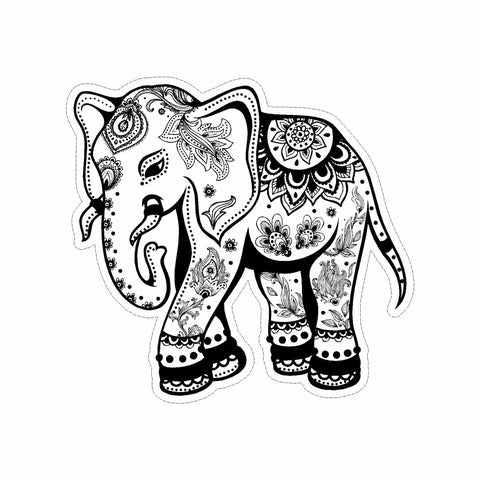 Elephant Mandala Art Stickers Doggy Style Gifts