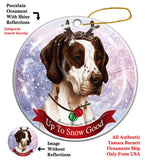 English Pointer Brown Howliday Dog Christmas Ornament