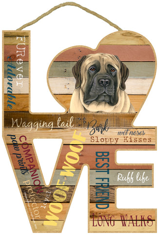 English Mastiff Love Sign
