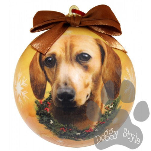 Dachshund Red Shatterproof Dog Breed Christmas Ornament