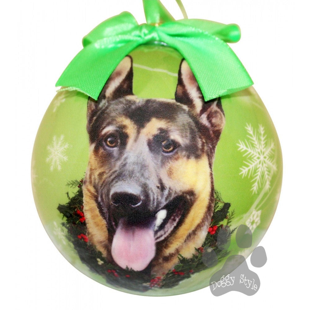 German Shepherd Shatterproof Dog Breed Christmas Ornament