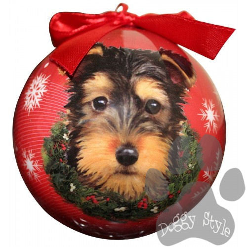 Yorkshire Terrier Yorkie Puppy Shatterproof Dog Breed Christmas Ornament