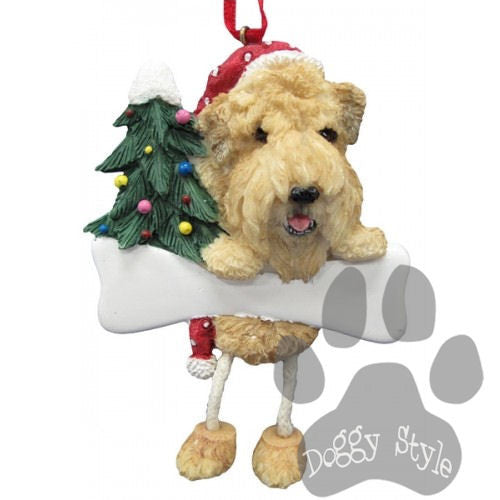 Dangling Leg Soft Coated Wheaten Terrier Dog Christmas Ornament