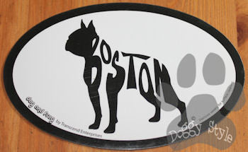 Euro Style Boston Terrier Dog Breed Magnet