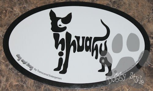 Euro Style Chihuahua Dog Breed Magnet