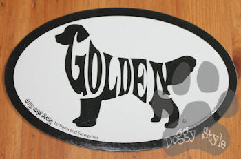 Euro Style Golden Retriever Dog Breed Magnet