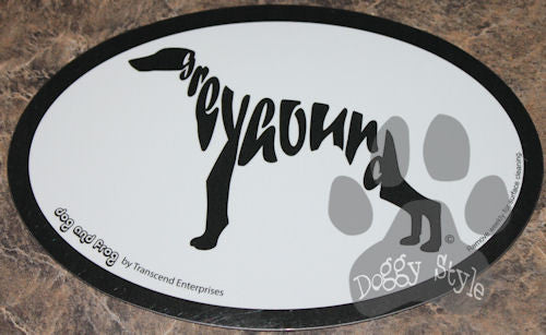 Euro Style Greyhound Dog Breed Magnet
