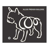 K Line French Bulldog Dog Car Window Decal Tattoo