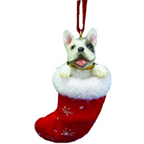 Santa's Little Pals French Bulldog Dog Christmas Ornament